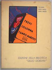 Ceccarius Angeli Amadei TREVI COLONNA CAMPOMARZIO 1935 Pinci Roma