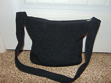The Sak Womens Black Satchel Shoulder Bag Purse Crossbody