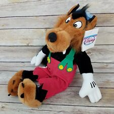 """The Disney Store Big Bad Wolf Plush Toy 15"""" From the 3 Little Pigs"""