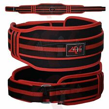 """Fit™ Neoprene Weight Lifting Belt Back Support Gym Training Belts 5"""" Wide"""