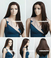 Graceful Beautiful! Long Dark Brown Straight Synthetic Lace Front Wig/HAIR