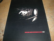 2005 FORD MUSTANG / GT FACTORY QUICK REFERENCE OWNERS MANUAL SUPPLEMENT BOOKLET