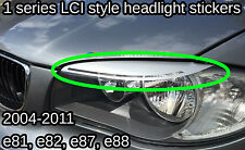 BMW 1 series LCI F/L Style Vinyl Headlight Eyebrow Sticker Decal angel eye depo