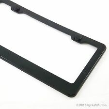 Black Plain Blank ABS License Plate Tag Frame Holder Cover Screw Caps Car Auto