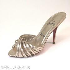 CHRISTIAN LOUBOUTIN Metallic GOLD Strappy Cage SANDALS Pumps Heels Shoe 36 6 5.5