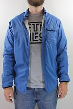 New ETNIES Mens Vettl L/S Woven Windbreaker Jacket Large L Navy/Royal Blue GD1