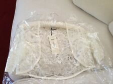 Ivory Wedding Lace Bolero Size 8