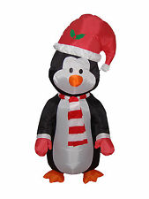 4' Christmas Lighted Inflatable Air Blown Blowup Yard Garden Decoration Penguin