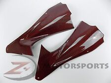2006 2007 R6 Front Dash Air Duct Cover Fairing Panel Trim 100% Carbon Fiber Red