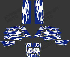 New Style BLUE WHITE DECALS STICKERS Graphics Kits fo YAMAHA BANSHEE 351 ATV