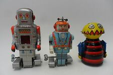 Rare Group Mechanical Spark Robot & Spaceman Swivel Ant SY Toys Japan 60s