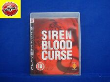 *ps3 SIREN BLOOD CURSE (No Manual) English Survival Horror Playstation 3 PAL