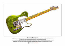 Francis Rossi's Fender Telecaster Limited Edition Fine Art Print A3 Tamaño