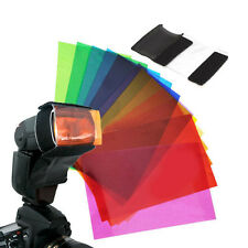 Stylish 12pc Strobist Flash Color Lighting Gel Pop Up Flash Diffuser Soft Box A