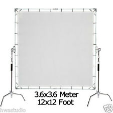 3.6x3.6m 12'x12' Butterfly overhead Diffusor Frame + Cloth+ Bag + 2pcs C-Stands