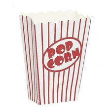 40 Popcorn Party Treat Boxes Hollywood Retro Theme Red and White Stripe Favours