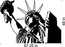 Huge Statue of Liberty   vinyl wall decal