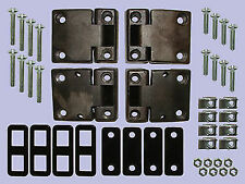 LAND ROVER DEFENDER FULL FRONT  DOOR HINGE KIT 1983 to 1998 pre TD5