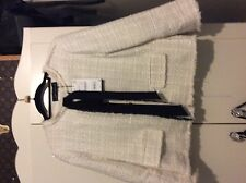 Zara Cream  Boucle Jacket With Bow -Size XL extra large -SOLD OUT
