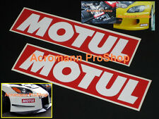 "2x 6"" 15.2cm MOTUL oil Decal Sticker brake kawasaki motogp 350Z gtr JGTC brz frs"