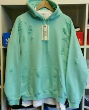 DISTRESSED RIPPED MINT HOODIE (HOODY) BY 9DEUCE LMDN SWEATSHIRT XXL