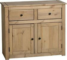 Sideboard Solid Pine 2 Drawer 2 Door Cupboard Wooden Buffet Panama Dining Room