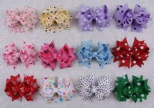 "Lot 12pcs girl baby mix gift  3"" boutique Hair Bows Grosgrain ribbon 2617-2628"