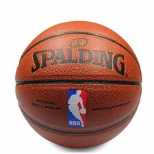 NWT Spalding Basketball NBA Size 7 PU Leather Indoor Outdoor Use Free Shipping