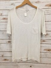 James Perse 1 White Scoop Short Sleeve Top *3190
