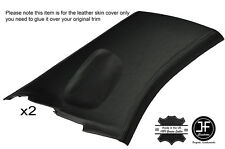 BLACK STITCH 2X REAR C PILLAR LEATHER COVERS FITS SUBARU IMPREZA WRX STI 02-07