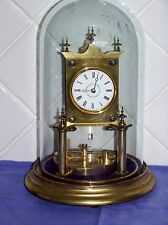 RARE PATENTED EARLY JUF 400 DAY JOURS DOME TORSION ANNIVERSARY JAHRESUHR CLOCK