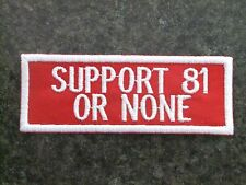 Hells Angels Cave Creek Support 81 or None patch