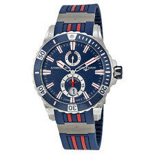 Ulysse Nardin Maxi Marine Diver Blue Dial Blue Rubber Mens Watch 263-10-3R-93