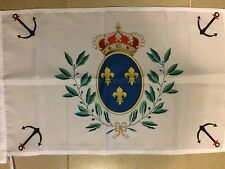 DRAPEAU Marine Royale Sacre COEUR ROYAL CHOUAN ROI FRANCE VENDEE CATHOLIQUE