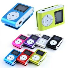 LCD Screen Clip metal Mini USB MP3 Music Media Player Micro SD TF Card