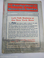 1914 BICYCLING WORLD MOTORCYCLE REVIEW INDIAN HARLEY DEALER MAGAZINE ORIGINAL