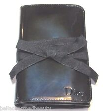 Christian Dior Ribbon Tied Limited-Edition Patent Black Cosmetic/Brush Case, NEW