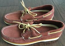New Men's Timberland 2 Eye Leather Topsider Style Boat Shoes Size 8