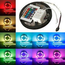 Tira Luz 5M 5050 SMD RGB 300 LED Flexible Multicolor Mando 24 KEY IR Tecla NUEVO