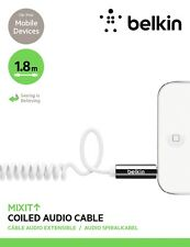 Belkin MixIt 3.5MM Audio Coiled Cable AUX for iPhone iPad Smartphone Tablet 1.8m