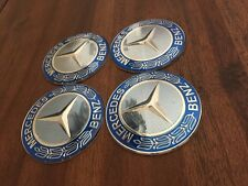 Mercedes 65mm SILVER BLUE WHEEL RIM CENTRE CAP COVER DECAL STICKER A B C E Class