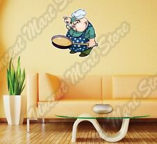 Restaurant Chef Cook Delicious Food Fun Wall Sticker Room Interior Decor 20X25""