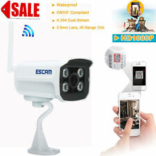 ESCAM Wireless 1080P HD P2P Outdoor Network Wifi IP Security Camera IR Day Night