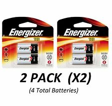 (4) CR123A Lithium Energizer Batteries EXP 2026, 1500mAh 3V Photo (2/Pack x2 =4)