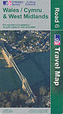 Ordnance Survey Wales and West Midlands (Road Map) Very Good Book