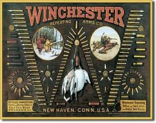 Winchester Rifle Shotgun Shells Metal Sign Tin New Vintage Style USA #942