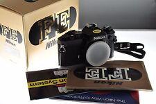 Nikon FE nera reflex Film Fotocamera. Nuovo di zecca Boxed condizione. + Uomo + Cinturino. incredibile!