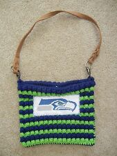 SEATTLE SEAHAWKS Green/Blue Custom Made HAND BAG Game Day Purse 12TH MAN Fan