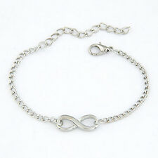 Women Chic Cross Infinite Bracelet Bangle Chain Bracelets Gold Silver Jewelry FT