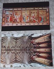 2 Vintage Norwich Cathedral Postcards - Nave Vault, Retable in St. Luke's Chapel